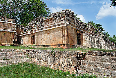 Serpents Temple in Labna Yucatan Mexico
