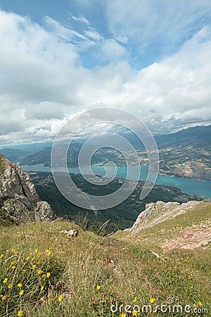 Serre-Ponçon lake in Alps