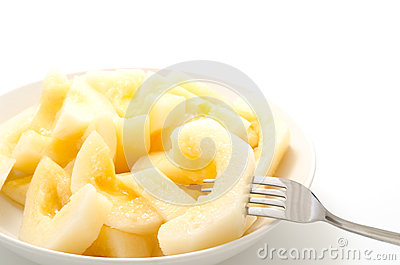 Serve yellow melon