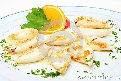 Served calamari