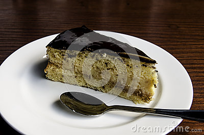 Served Chocolate Cake