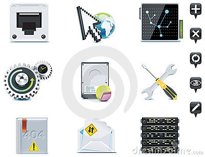 Server administration icons. Part 3