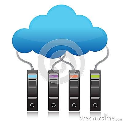 Free Server Backup Cloud Computing Concept Royalty Free Stock Photo - 27963285