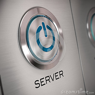 Server button close up