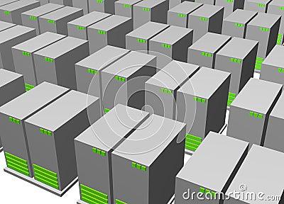 Server Clusters For Data Warehousing Clip Art