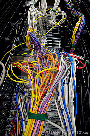 Server data wires and cables