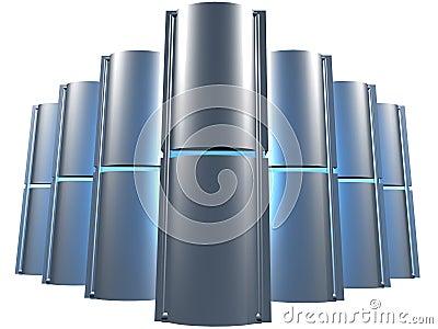 Server farm blue