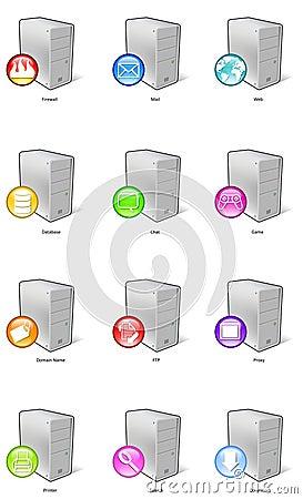 Free Server Icons Royalty Free Stock Photo - 1161555