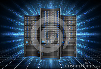 Server im Cyberspace