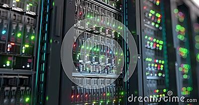 server Rappresentazione di calcolo di archiviazione di dati 3d della nuvola stock footage