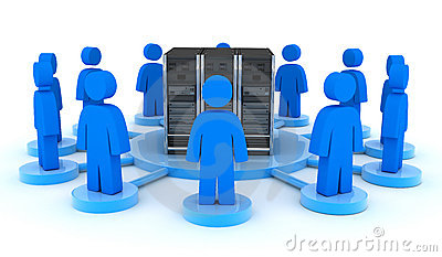 Server and users (front)