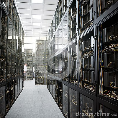 Free Servers And Hardware Room Computer Technology Concept Photo Stock Photography - 101949182