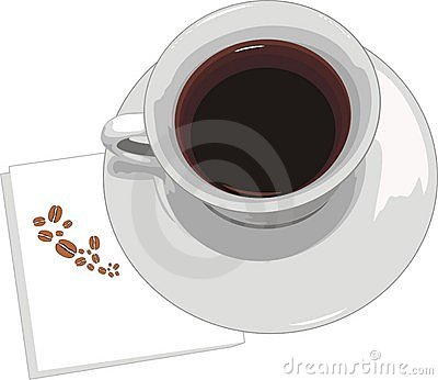 Servett för kaffekopp