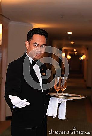 Serveur ou maître d hôtel