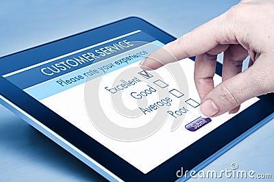 Service à la clientèle en ligne