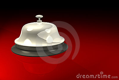 Service bell on polished surface