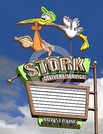 Service de distribution de cigogne