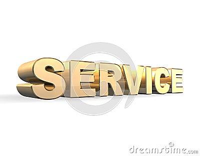 Service Gold 3d