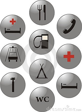 Service marks. Vector icons.