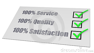 Service Quality Satisfaction Check List