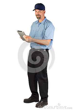 Service Technician Taking Order