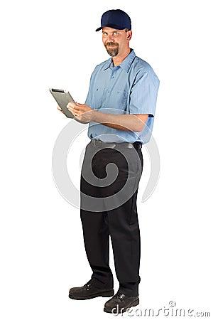 Service Technician Taking Order