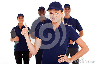 Service thumb up