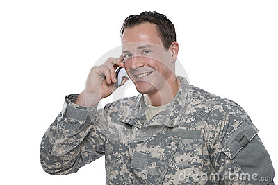 Serviceman on the Phone