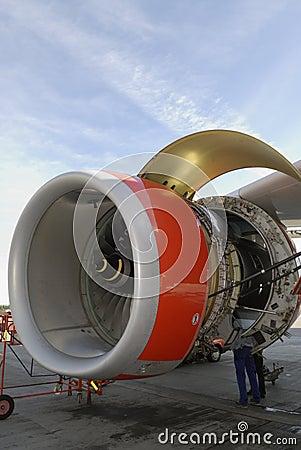 servicing jet engine royalty free stock image image 1236976