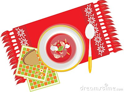 Serviette πιάτων λαχανικό σούπας