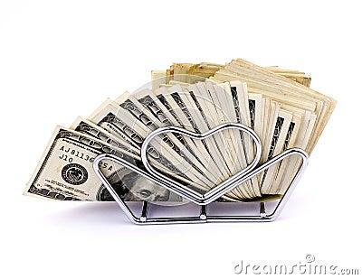 Servilletas de cientos dólares