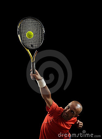 Free Serving A Tennis Ball Stock Images - 19515554