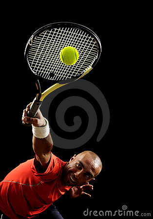 Free Serving A Tennis Ball Royalty Free Stock Photo - 19515565