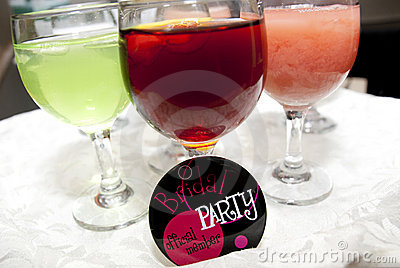 Serving Beverages at a Bridal Shower