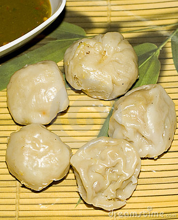 A serving of dumplings