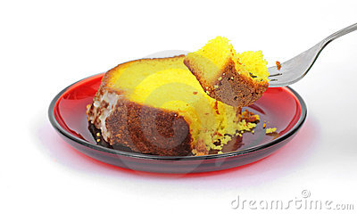 Serving of Lemon Cake