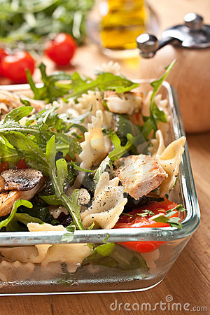 Free Serving Of Pasta Salad Royalty Free Stock Photography - 15959427
