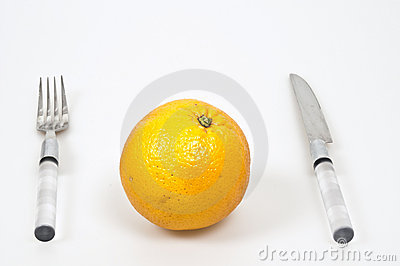 Serving orange fruit