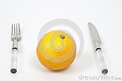 Serving orange fruit