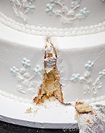 Serving Wedding Cake