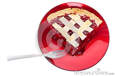 Serviço da torta da cereja