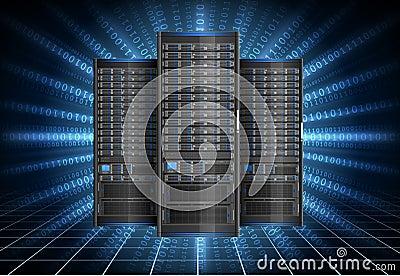 Serwer w cyberprzestrzeni