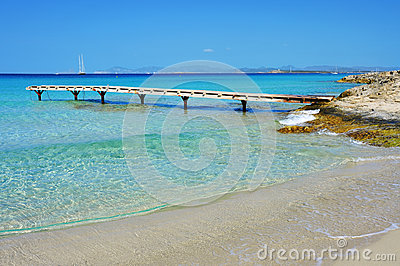 Ses Illetes Beach in Formentera, Balearic Islands