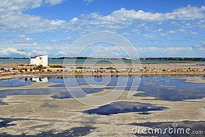 Ses Salines Formentera saltworks horizon balearic