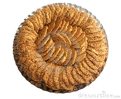 Sesame Biscuits In A Dish Royalty Free Stock Image - Image: 11100776