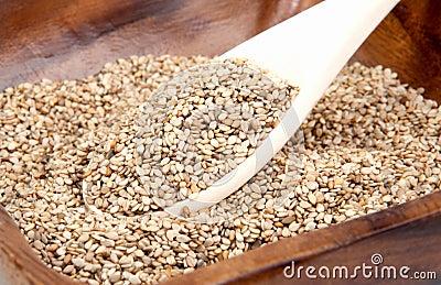 Sesame in a bowl