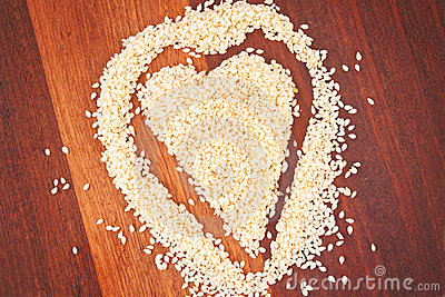 Sesame Heart Stock Photos - Image: 23248123