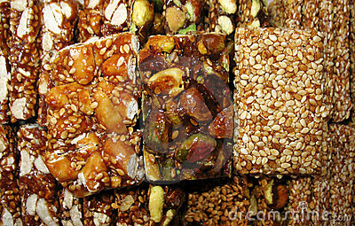 Sesame, Pistachios, and Nuts Sweets