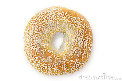 Sesame Seed Bagel, Viewed From Above