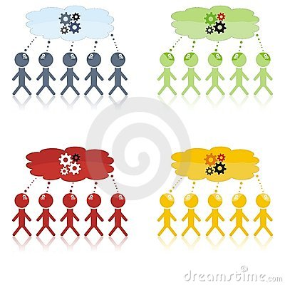 Sesión de la reunión de reflexión con cinco personas
